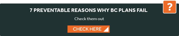 reasons why BC plans fail