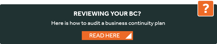 how to audit a business continuity plan