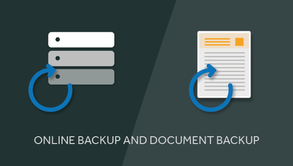 The difference between Online Backup and Document Backup
